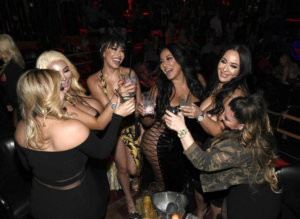 Kiara Mia Hosts Party at Crazy Horse 3 in Las Vegas