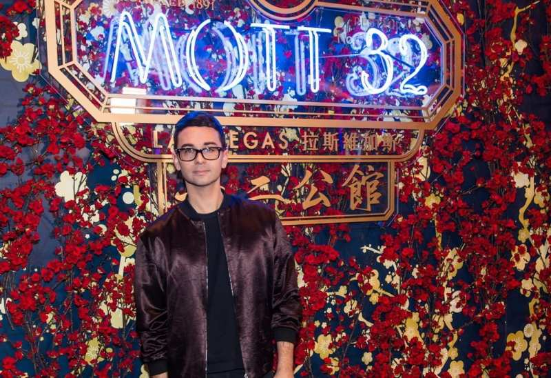 Christian Siriano at the Mott 32 grand opening at The Venetian Resort Las Vegas, 12.28.18_credit Brenton Ho