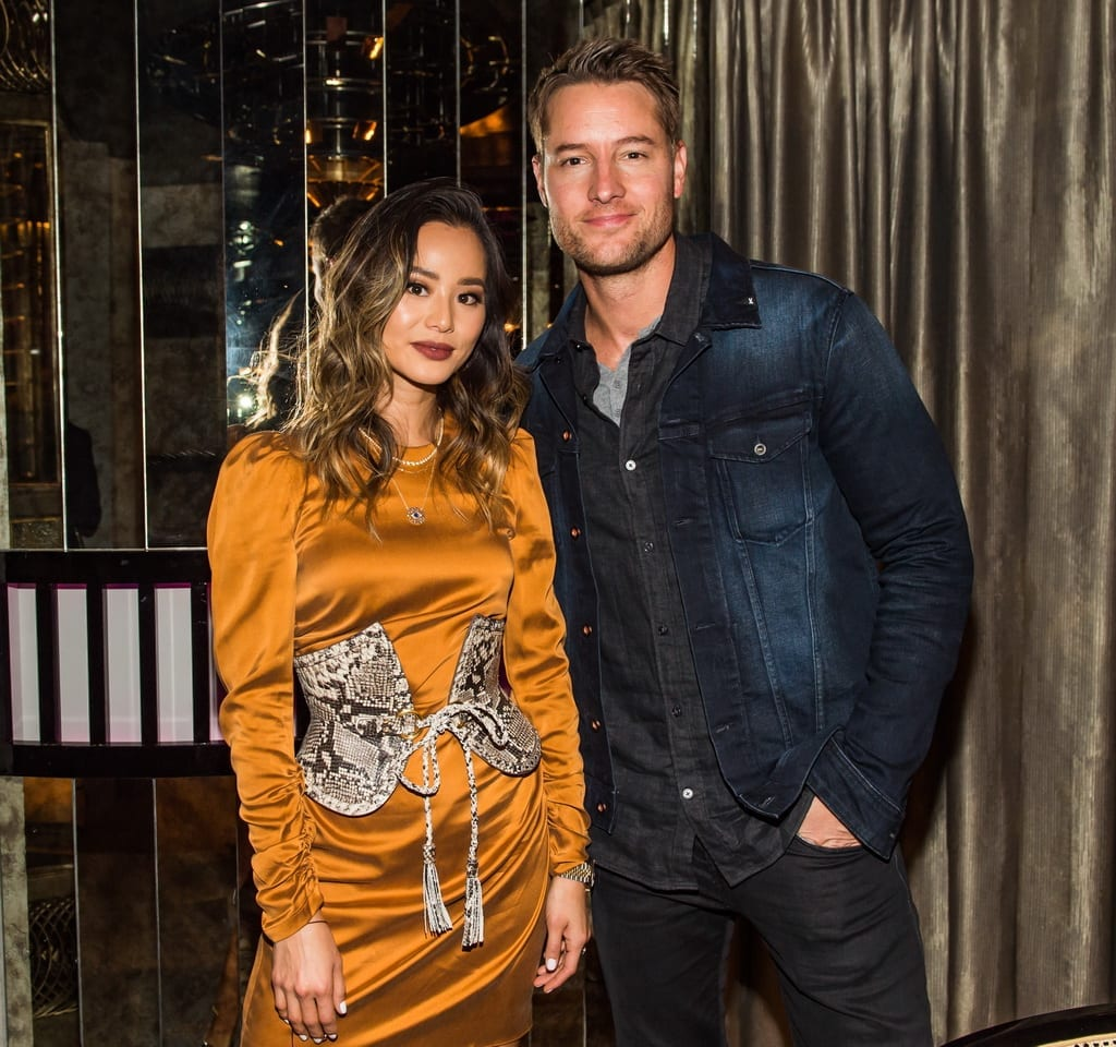 Jamie Chung and Justin Hartley at the Mott 32 grand opeing at The Venetian Resort Las Vegas, 12.28.18_credit Brenton Ho