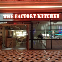 Hotels With Kitchens In Las Vegas Glass Round Kitchen Table The Factory At Venetian Grand Opening Vegaschanges