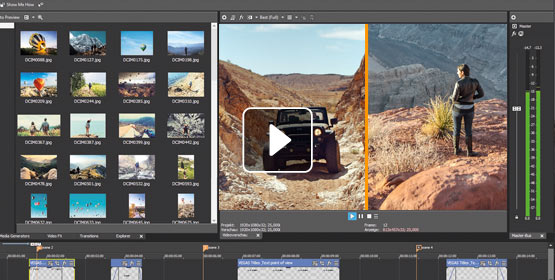 Instantly crop video for split-screen presentations
