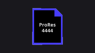 ProRes 4444 files with embedded alpha channels