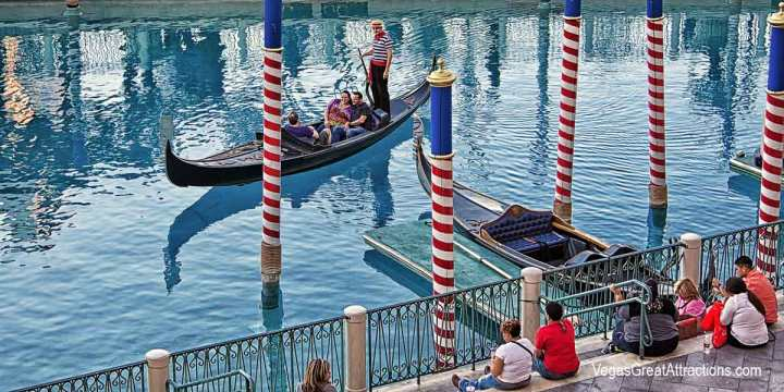 Gondola ride on Canal Grande, at Venetian Hotel, Las Vegas