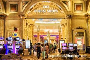 Entrance to the shopping mall from Caesars Casino