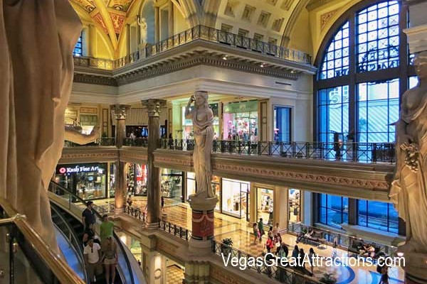 Forums Shops at Caesars Palace at the main entrance
