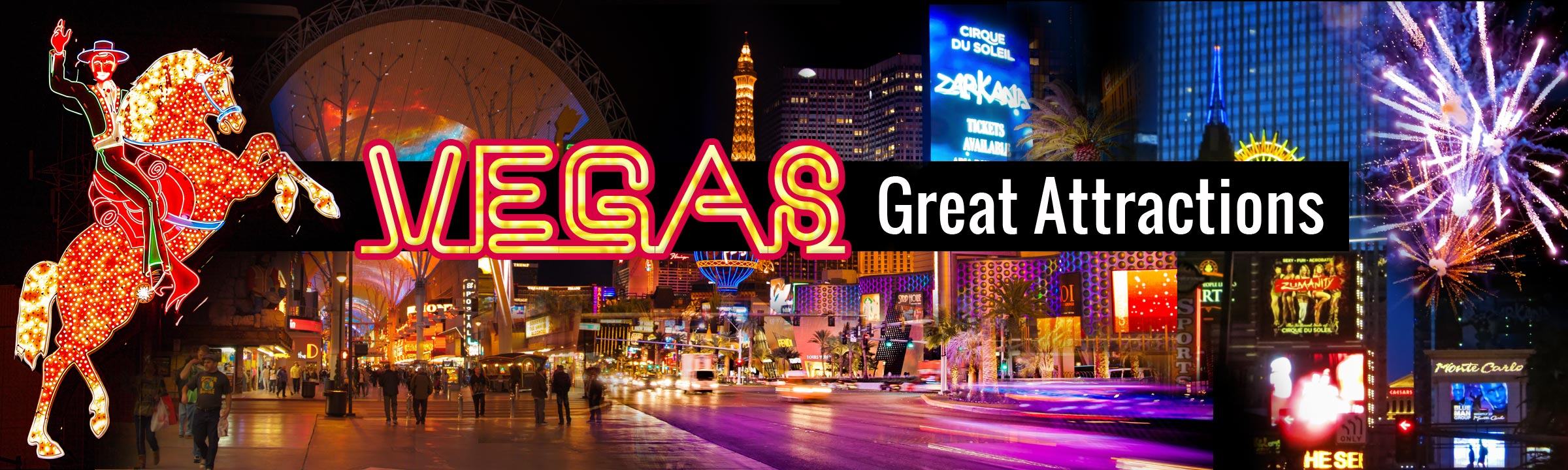 top banner vegas great attractions