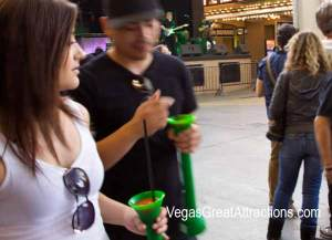 St. Patrick's day 2015 celebration on Fremont Street Experience