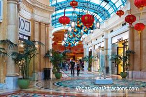 Chinese New Year decorations on Via Bellagio, Las Vegas