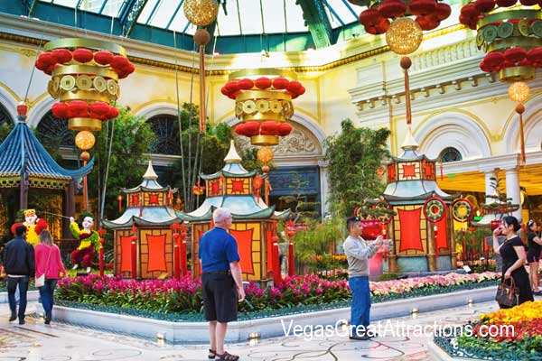 Tourist at the Chinese New Year 2015, Bellagio Gardens and Conservator