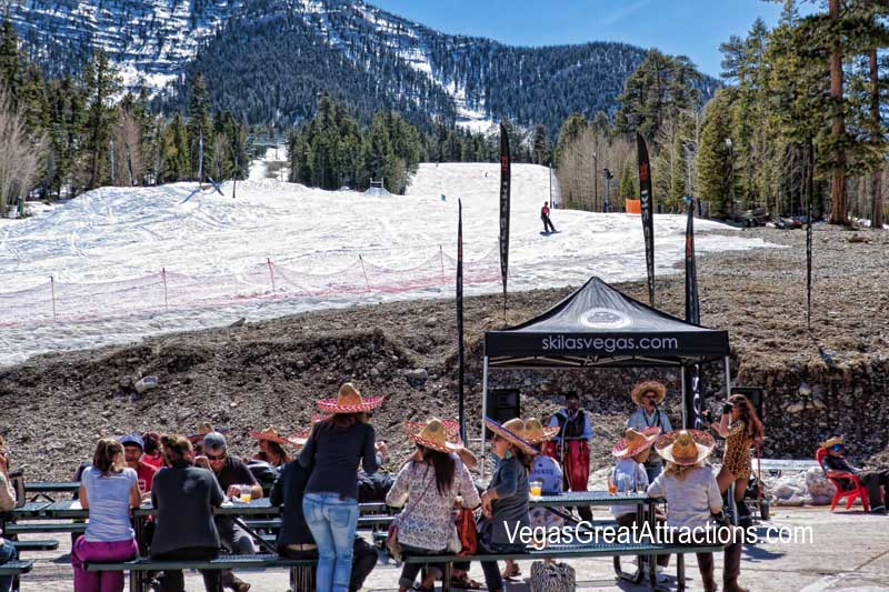 End of the season at the Ski and Snowboard Resort Las Vegas, Mexican fiesta