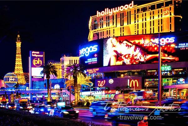 Las Vegas strip night lights