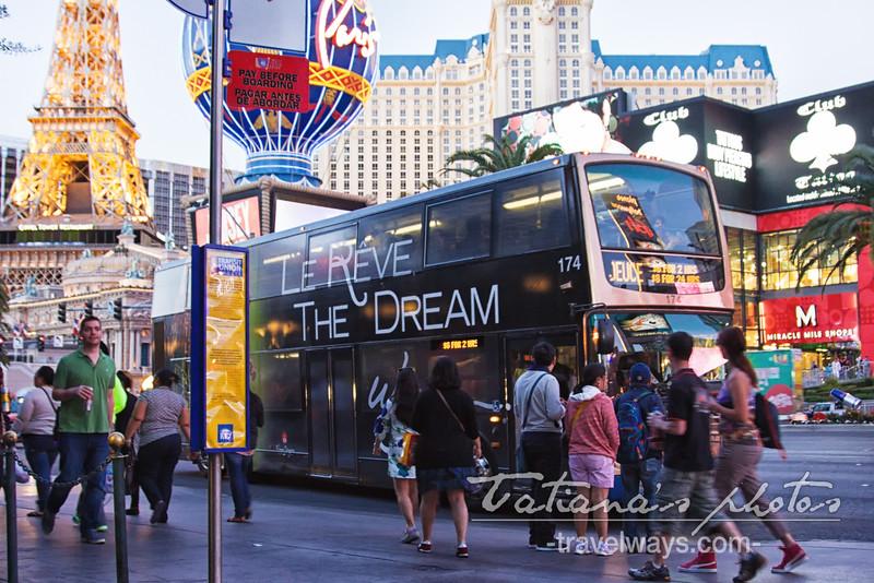 The Deuce on Las Vegas Strip