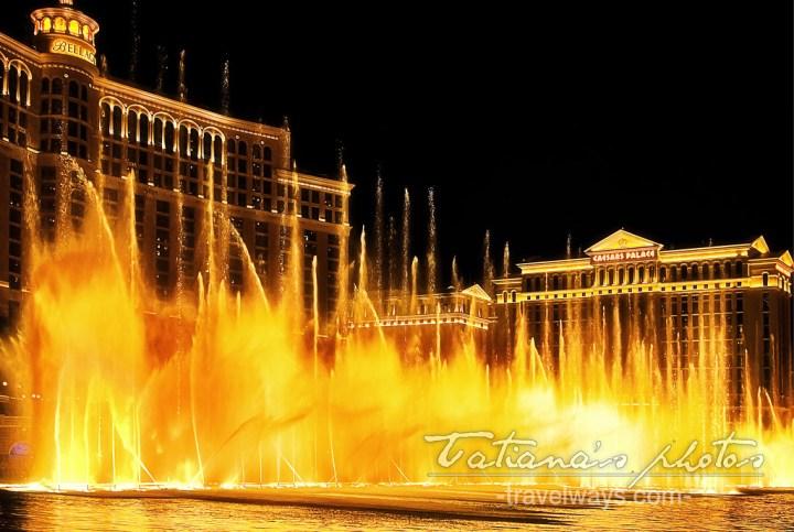 Bellagio fountains in Las Vegas