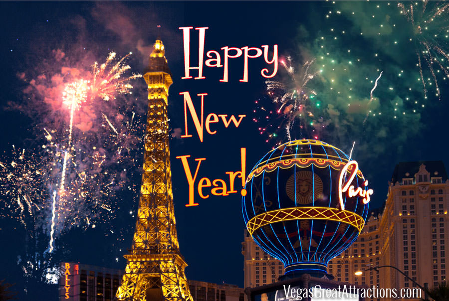 Las Vegas Happy New Year card