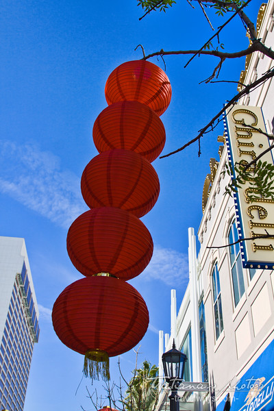 Chinese decorations on the Linq Promenade, Las Vegas