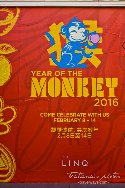 Year of the Monkey 2016 on the Linq Promenade, Las Vegas
