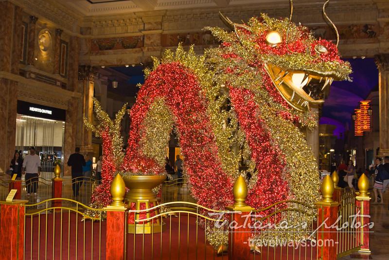 Chinese Dragon at Forum Shops at Caesars Palace Las Vegas