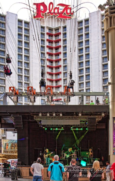 Slotzilla zip line on St. Patrick's Day Las Vegas