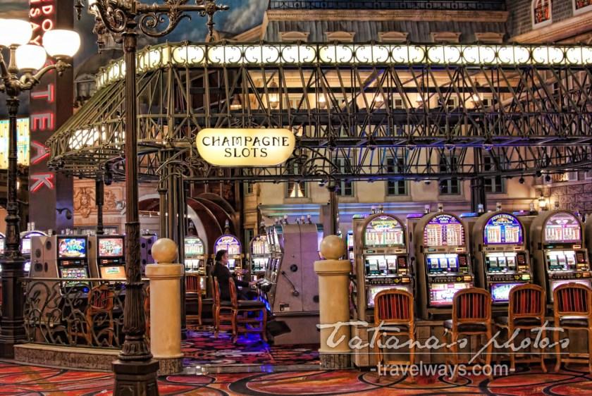 Champagne Slots square inside Paris Las Vegas