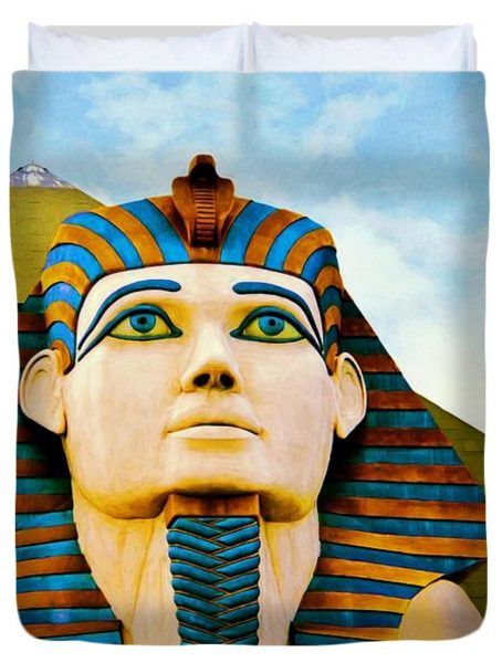 The Sphinx At Luxor, Las Vegas Duvet Cover for Sale by Tatiana Travelways