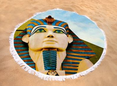 The Sphinx At Luxor, Las Vegas Round Beach Towel for Sale by Tatiana Travelways