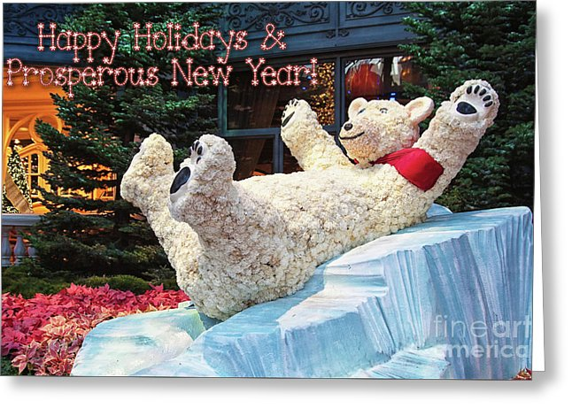 Happy Holidays And Prosperous New Year Greeting Card by Tatiana Travelways