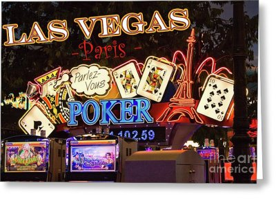 Las Vegas Paris Casino Art Print featuring the photograph Parlez Vous Poker by Tatiana Travelways