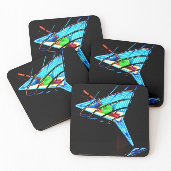 Martini glass coasters