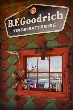 B.F.Goodrich tires batteries sign