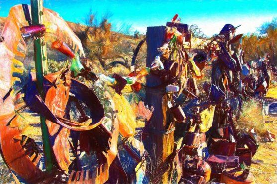 Junk / Yard Art Display