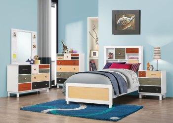 bedroom bed lemoore multi 4pc coaster furniture wood collection acme cottage spring kbr cst vegas