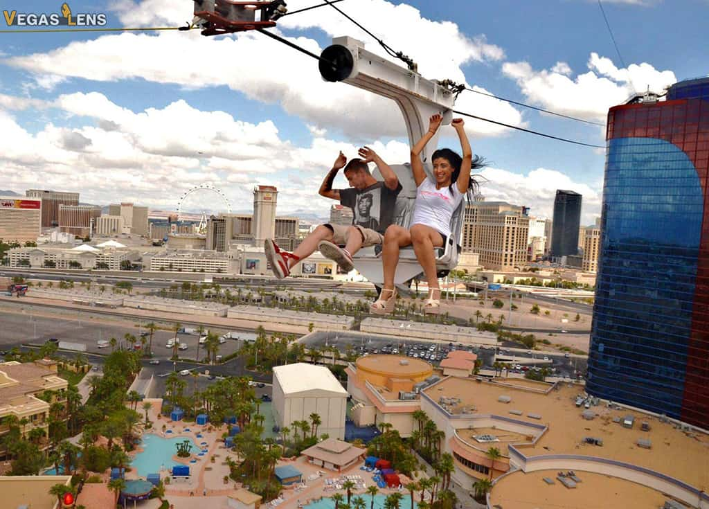 SLOTZILLA Zipline Ride - Romantic Things to do in Las Vegas
