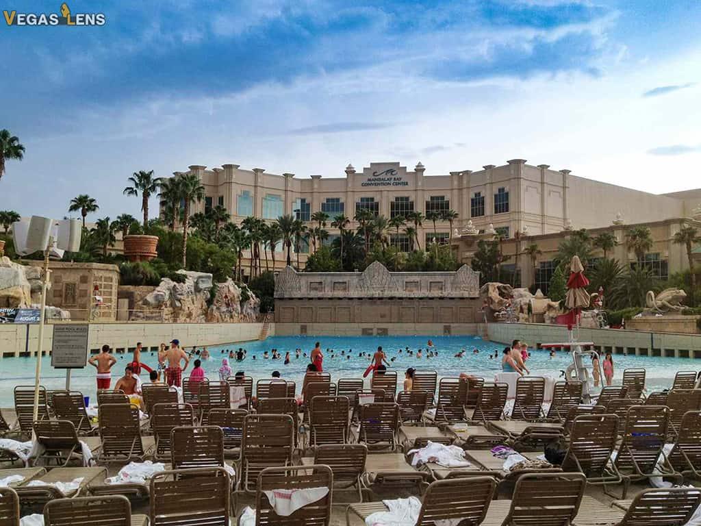 Mandalay Beach Pool Lounging - Bachelors party in Vegas