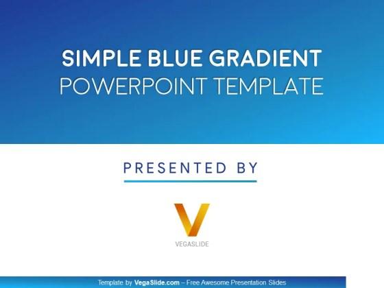 Simple Blue Gradient PowerPoint Template