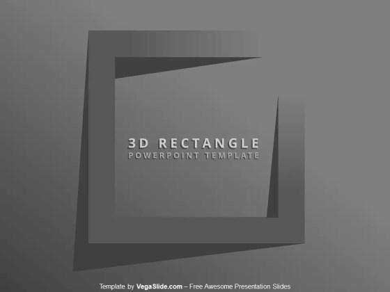 3D Rectangle PowerPoint Template