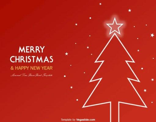 Animated Minimal Line Christmas Tree PowerPoint Template