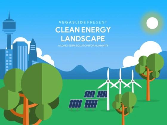 Clean Energy Landscape PowerPoint Template