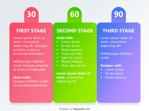 Colorful Animated 30 60 90 Day Plan PowerPoint Template