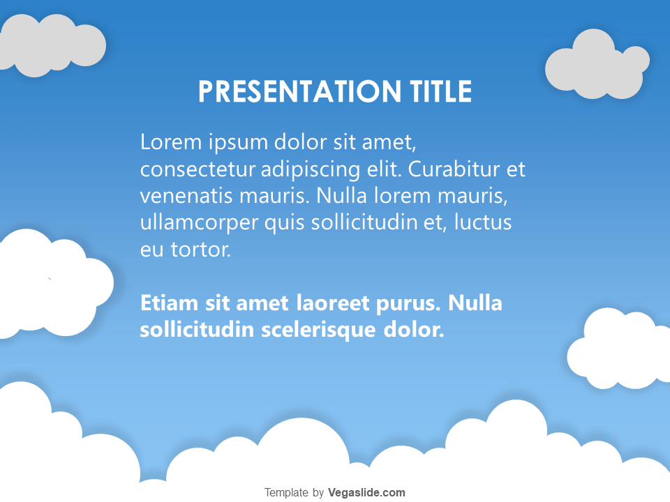 Above The Clouds Powerpoint Template Vegaslide