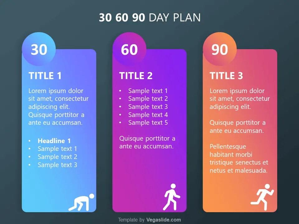 refreshing 30 60 90 day plan powerpoint template vegaslide. Black Bedroom Furniture Sets. Home Design Ideas
