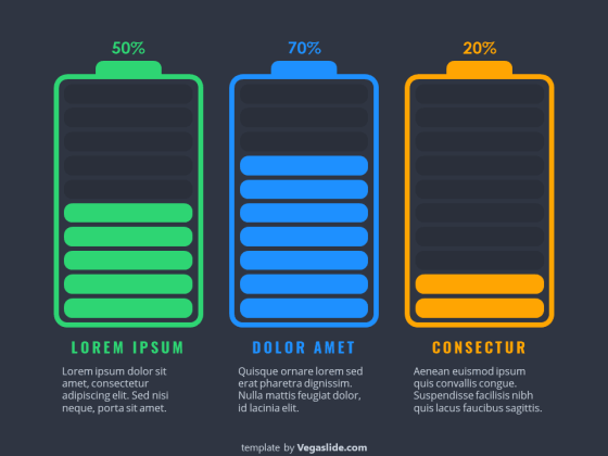 Battery Status PowerPoint Template
