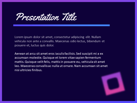 Elegant Purple PowerPoint Template