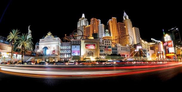 The Las Vegas Strip lit up at Night