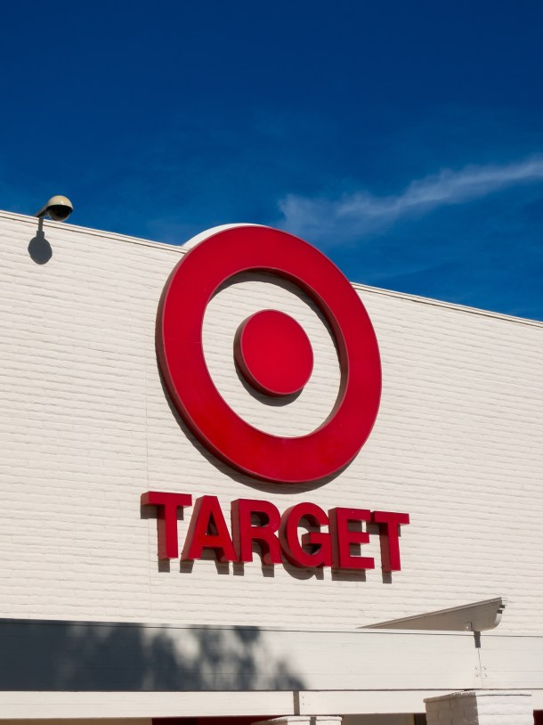 Target red sign logo