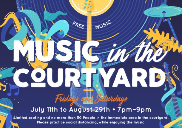 the district music in the courtyard live music summer concert series
