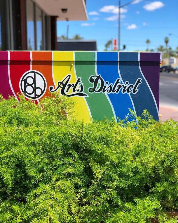 Arts District sign in multiple colors