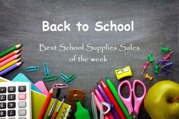 back to school blackboard with best sales of the week