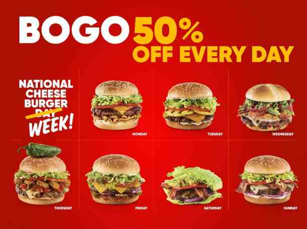 Red Robin BOGO burgers national cheeseburger day