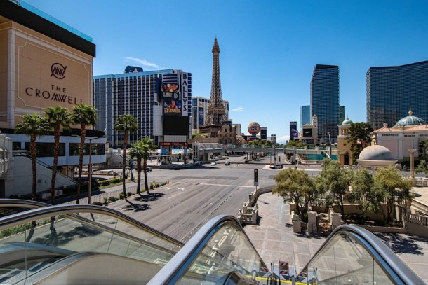 Vegas strip empty nevada reopening phase 2 recovery