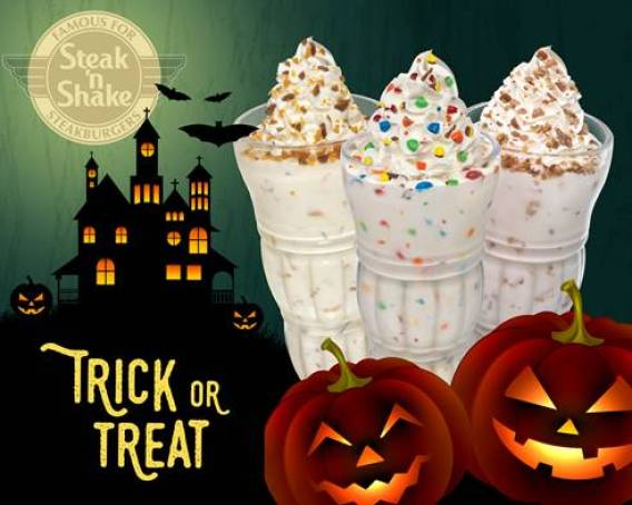 Steak 'n Shake halloween free shake for kids